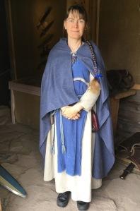 Kristiina työnsä äärellä, Kristiina Lehtonen, Rosala, viikingit