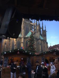 Joulutorit, Prahan linna, St.Vituksen katedraali, joulu, nähtävyys, Praha, Eurooppa, lasten kanssa