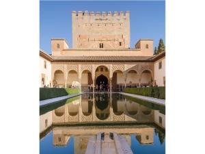 Alhambra, Granada, Andalucía, Espanja, maurilainen arkkitehtuuri, historia, vuoristo,
